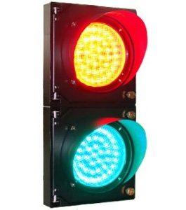 100MM TWO-WAY LED TRAFFIC LIGHT