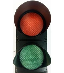 200mm 2-Way Hi-Intensity LED Traffic Light