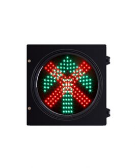200mm R Cross + G Arrow Pixel Cluster in One Unit Traffic Light