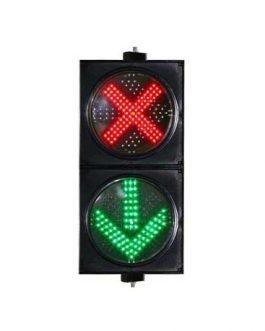 300mm Red Cross and Green Arrow Traffic Light
