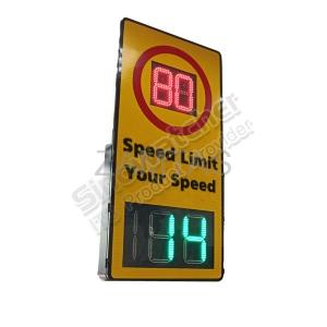 Doppler Radar Speed Sign with Speed Limit