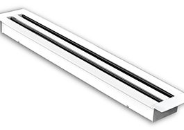 Linear Slot Diffuser – 2 Slot  (White/Anodized)