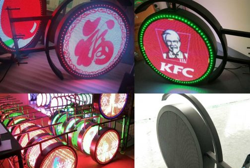 Logo /Round double sided led sign